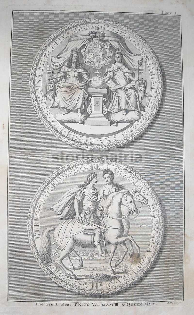 Antiche Medaglie, Araldica, Nobilta Anglosassone, King William Iii, Queen Mary, 700 anteprima